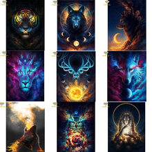 5D DIY Diamond Painting Fantasy Animal Wolf Tiger Owl Full Square Embroidery Cross stitch Diamond Bird Wall Painting Decor(China)