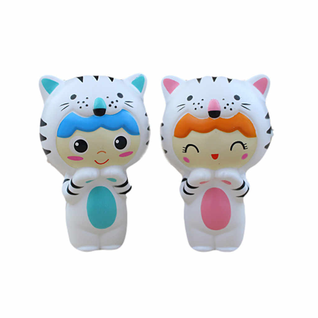 Adorable Squishies Cute Tiger Baby Stress Reliever Scented Super Slow Rising Toy Squish Antistress Toys 19May06 P35