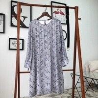 2019 New Year Women's Long Sleeve Belt Silk Print Dress 0321