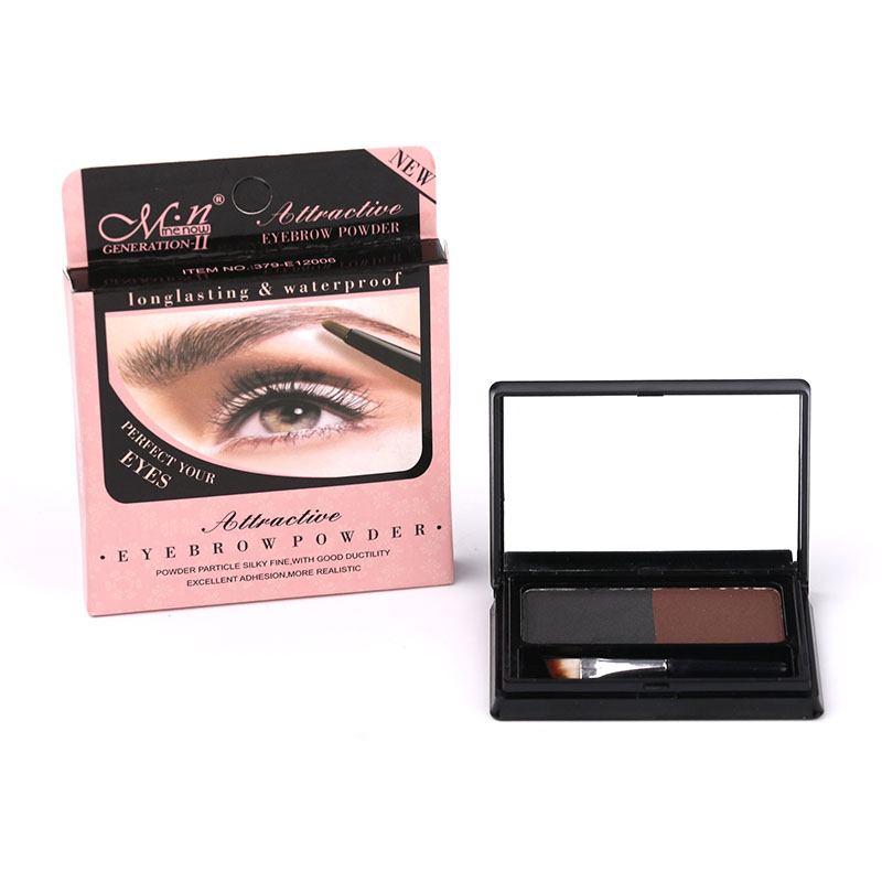 Menow Augenbraue Palette Shimmer Makeup Glitter Matte mit Pinsel 1 stücke Schwarz Braun Farbe
