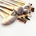 Novo 23 PCS pincéis de maquiagem profissional definida Green Bamboo Handle cosméticos ferramentas de maquiagem em pó Contour fundação escova da sombra