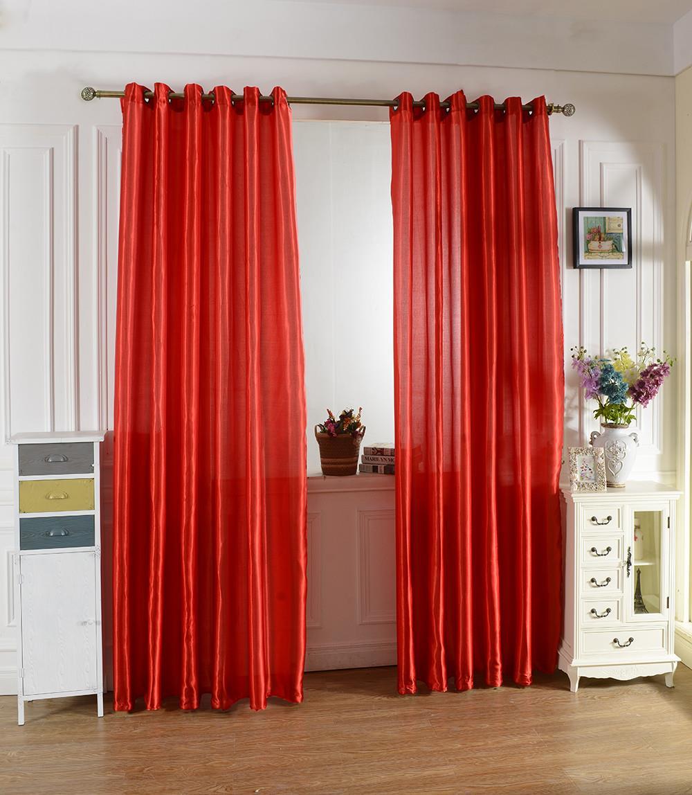 1 Par de Textiles Para El Hogar Ojal Top Puerta Cortina de Ventana Dormitorio Te