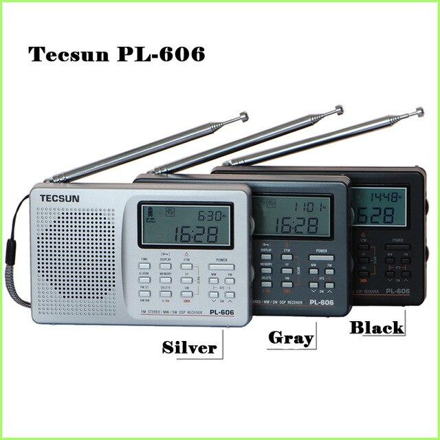 Verkauf Fm Stereo Am Lange Welle Kurze Welle Radio Am/fm Radio Mobilfunk Tecsun Pl-606 Kostenloser Versand Tecsun Pl-606 Niedrigsten Preis Unterhaltungselektronik Radio