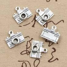 20 шт амулеты камера 15x14 мм античный бронзовый серебристый