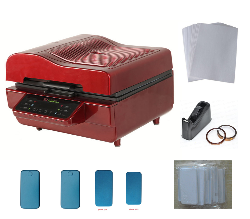 3D Vacuum Sublimation Heat Press Mug Transfer Machine Phone Cover Printing KIT