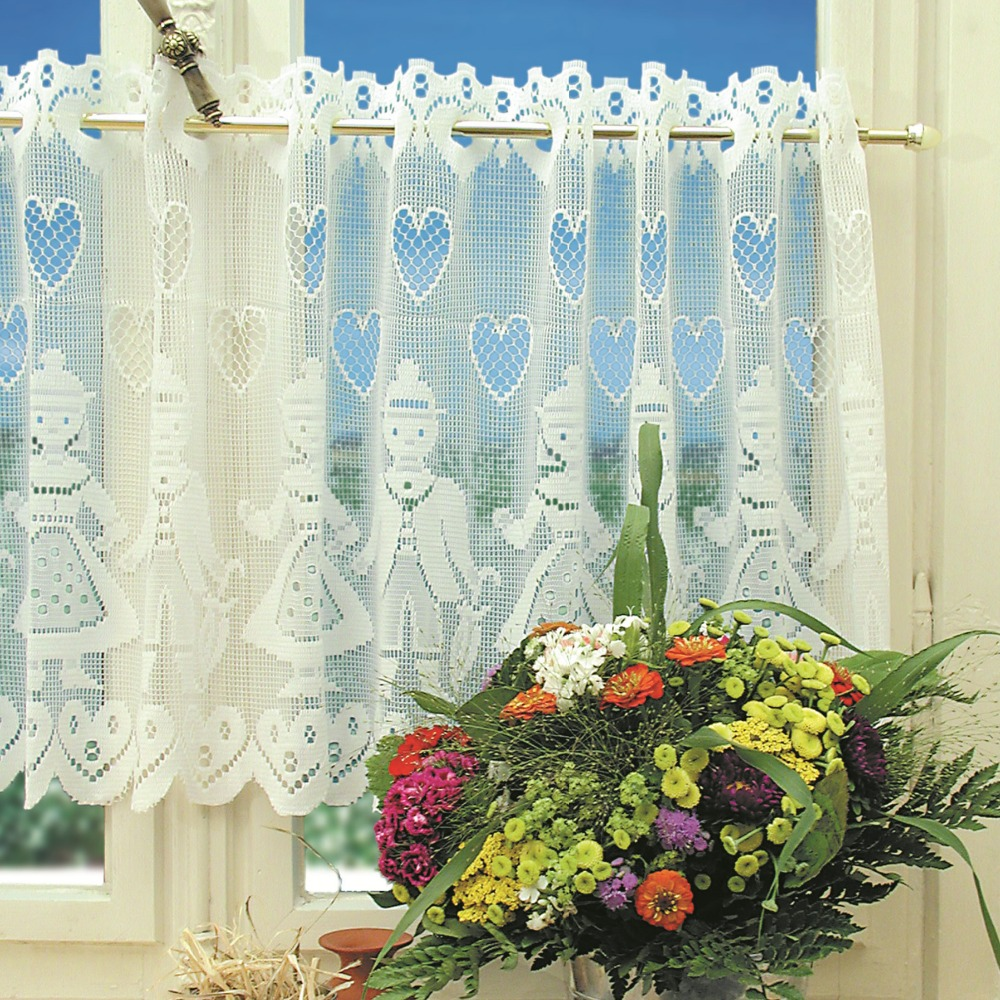 Couple people home decor lace shop polyester lace kitchen curtains set and cafe curtain 160x50cm 160x30cm 2pieces per set in curtains from home garden on