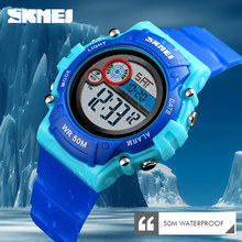 2019 SKMEI New Fashion Kids Watch Waterproof Plastic Case Alarm Wristwatch Boys Girls Digital Children Watches Wrist Reloj Cool