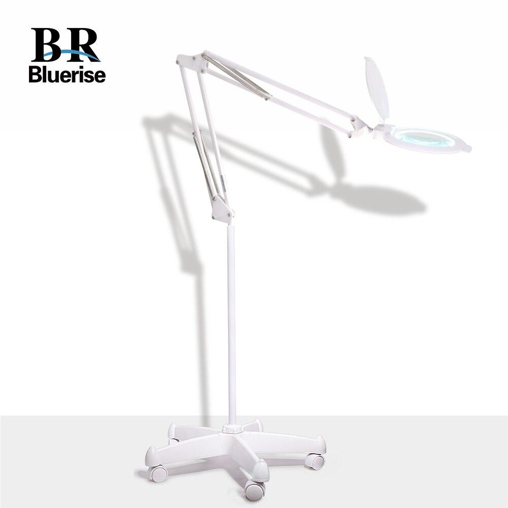 Lampe de Table manucure lampe de loupe à LED 2-en-1 pince de bureau réglable Super lumineux et Base de support de sol pour Salon de manucure
