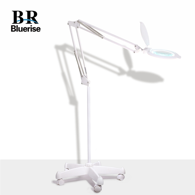 Manicure Table Lamp Led Magnifier 2 In 1 Super Bright Adjule Desk Utility Clamp And Floor Stand Base For Nail Salon