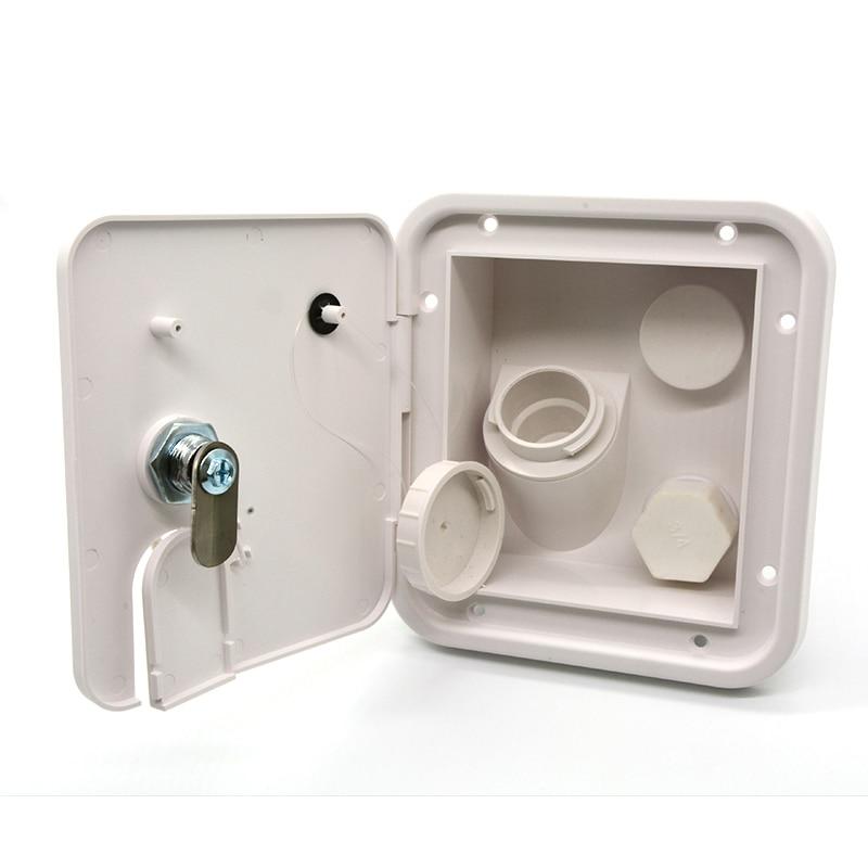Universal White Gravity Water Hatch water intake Fill Dish Lock Keys RV Trailer motorhome Camper caravan