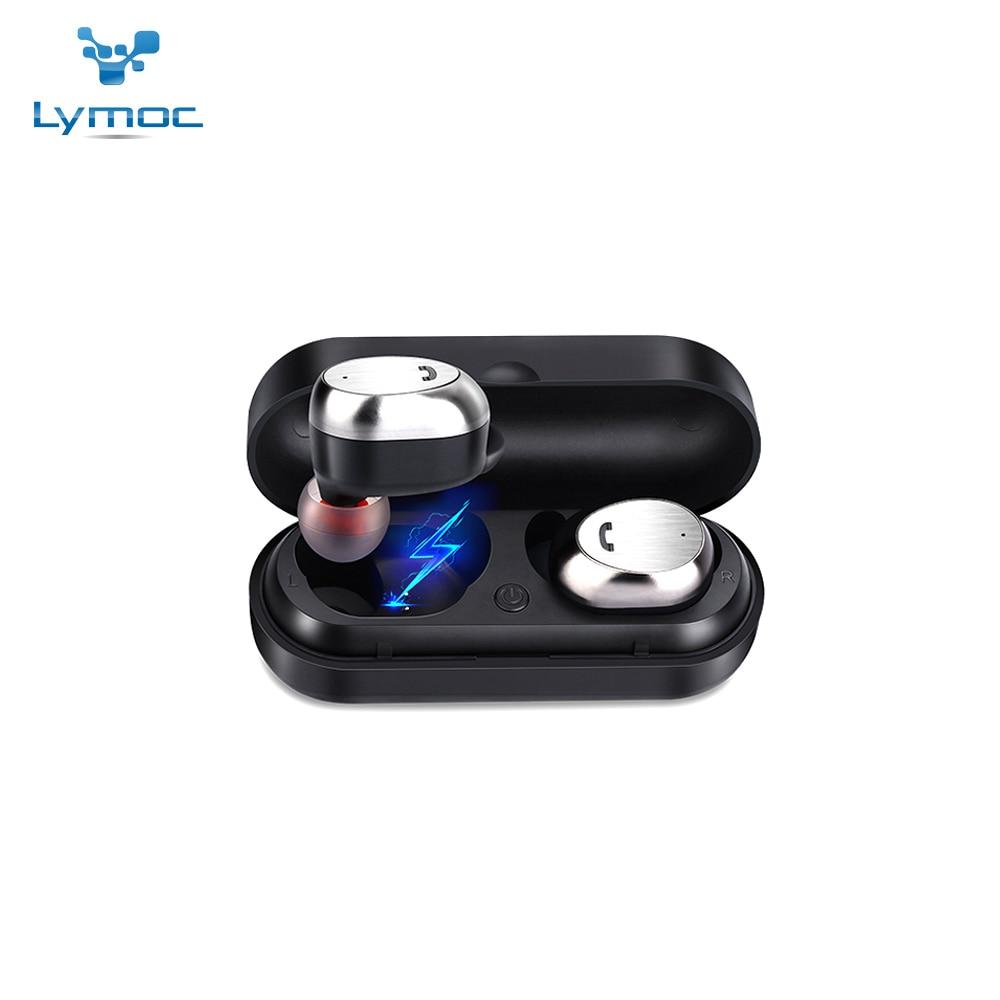 LYMOC Wireless Bluetooth Earphone TWS Mini Headset V5.0 Stereo Earbud Sports Handsfree For Phone Skype Truck Driver Call Center