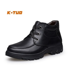 K-TUO New Arrival Men's Winter Hiking Shoes Mem Genuine Leather High-top Sport Boots Snow Boots Hiking Large Size 38-50  KT-5626