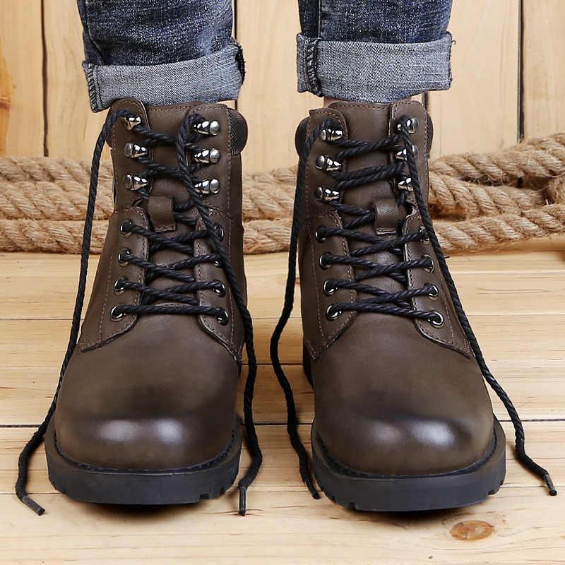 Winter Met Bont Snowboots Voor Mannen Plus Fluwelen Sneakers Mannelijke Schoenen Volwassen Casual Kwaliteit Waterdichte Enkel Warme Laarzen