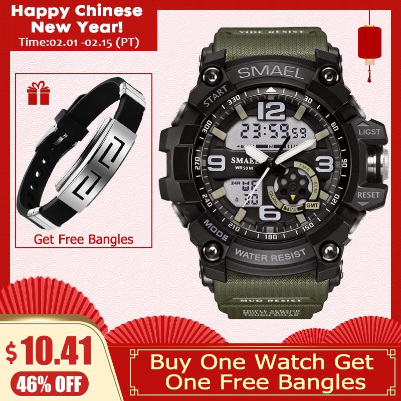 Herrenuhren Uhren Uhr Led Männer Wasserdichte Sport Uhren Casual Shock Digitale Elektronische Armbanduhr Military 2019 Top Marke Reloj Hombre