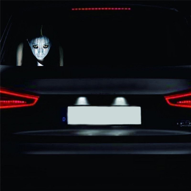 Car Rear Window Ghost Stickers 3D Car Sticker Reflective Auto Sticker for Volkswagen Audi A3 A4 B6 B8 Ford Focus 2 Passat B5 car rear trunk security shield cargo cover for volkswagen vw tiguan 2016 2017 2018 high qualit black beige auto accessories