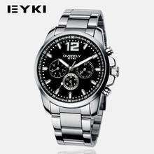 2016 EYKI Marca De Lujo Para Hombre Relojes de Moda Casual Hombres Relojes de Acero A Prueba de agua Reloj de Cuarzo Reloj Relogio masculino VEE 8568