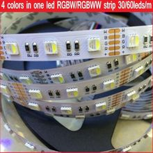 5M 4 Colors in 1 LED SMD 5050 RGBW LED Strip Light RGB + White / Warm White 30 60leds/m DC12V 12MM PCB Waterproof IP21 IP65 IP67
