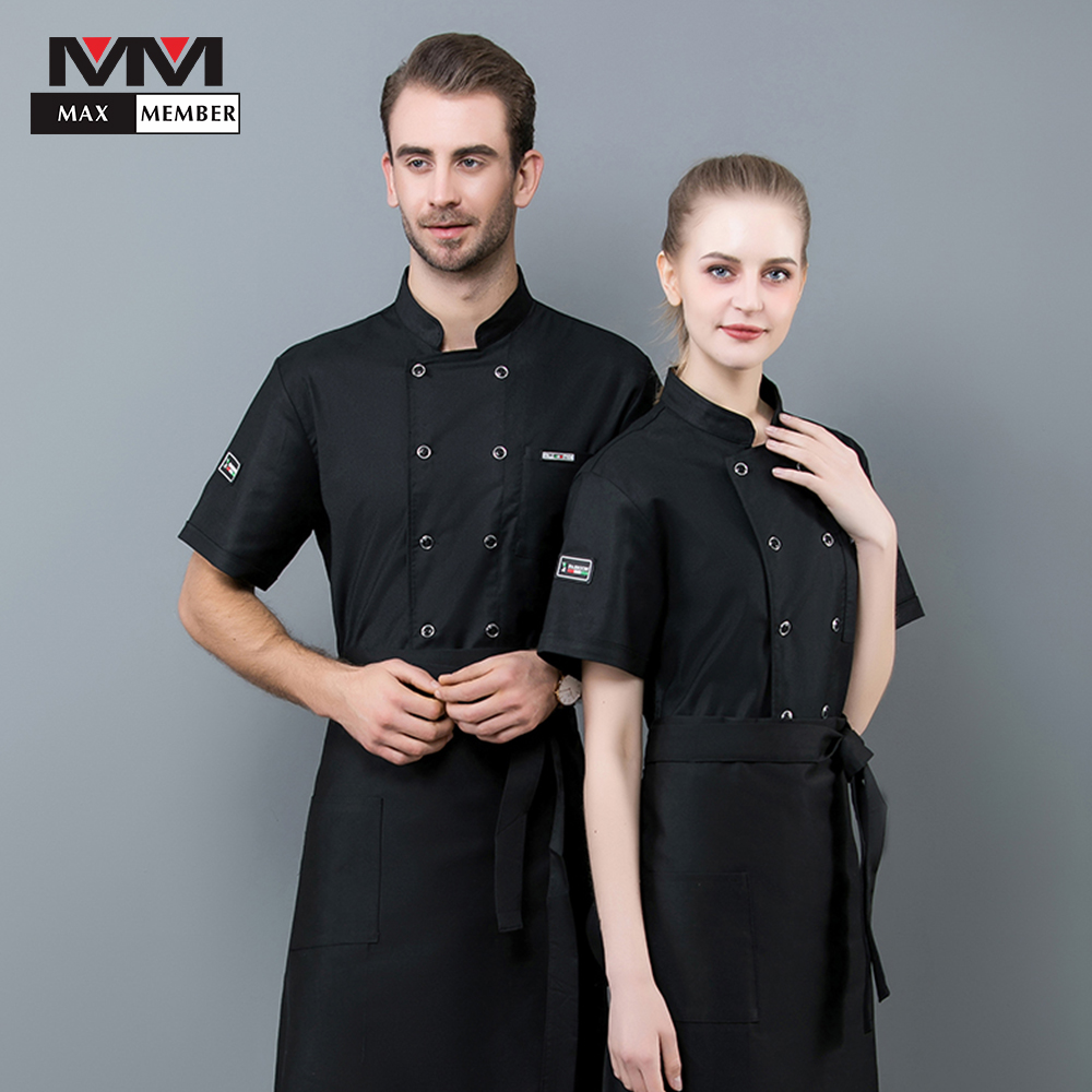 2019 New Cuisine Work Suit Restaurant Service Uniform Chef Serving High Quality Unisex Kitchen Shirt Breathable Workwear