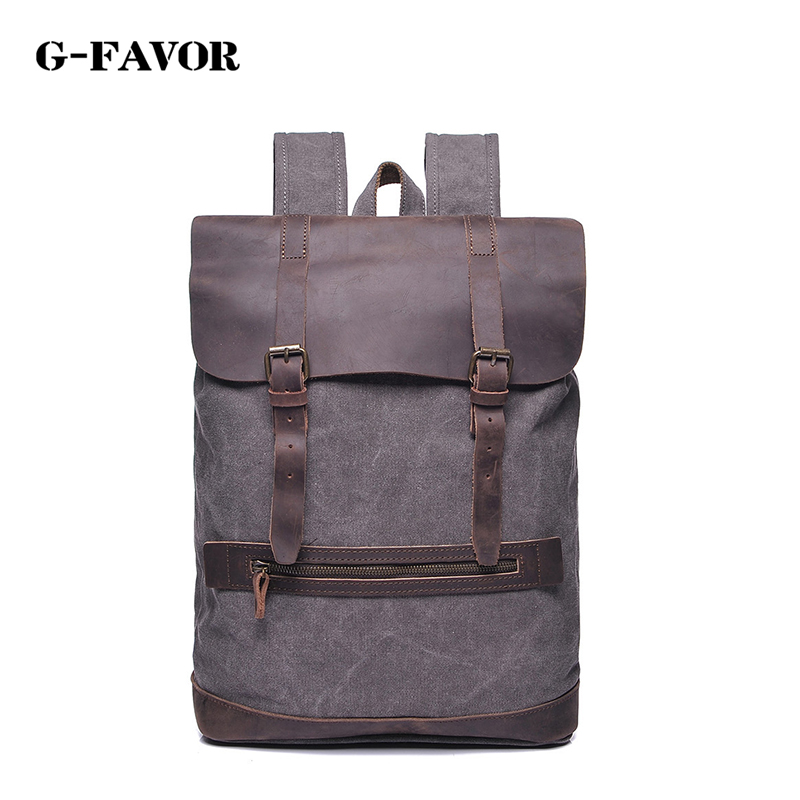Vintage Fashion Backpack Leather military Canvas backpack Men backpack women school backpack school bag bagpack rucksack mochila 2017 printing owl backpack good quality canvas backpack college school backpack flowers women rucksack backpack mochila t20