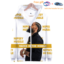 K-pop 3D Rep nipsey hussle Zipper Hoodies print Casual Women/men Clothes 2019 Hot Sale hooded Plus Size 4XL