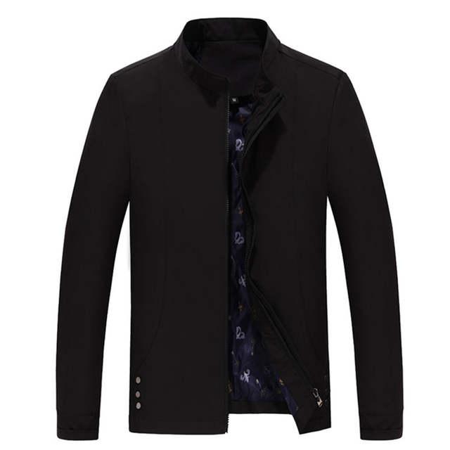 US $18.82 52% OFF|2016 Nieuwe Mannen Mode Casual Sportswear Jas Eenvoudige Ontwerp Business Britse Stijl Heren Jas Rits Kaki Tij wilde Jassen M371 in