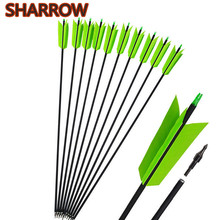 30 6/12Pcs Archery Carbon Arrows FLU-FLU 4 Turkey Feathers SP400 For Recurve Compound Bow Outdoor Hunting Shooting Accessories