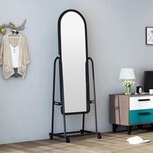 Туалетное зеркало спальня полная длина магазин одежды большое зеркало для примерки дома Мобильный пол простой туалетный зеркало wx8241341