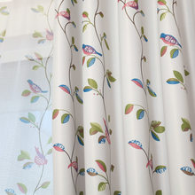 Printing Full Shade Cloth and Fragrance of Flowers Curtains for Living Dining Room Bedroom(China)
