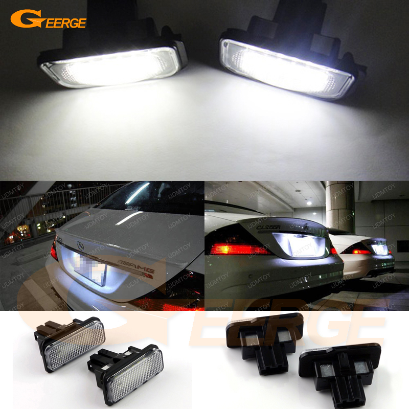 For Mercedes Benz C E CLS SLK Class S203 W211 S211 W219 R171 Excellent Ultra bright 18 smd Led License plate light No OBC error ak ak56023 mercedes benz sl65 1 18 r c car toy silver