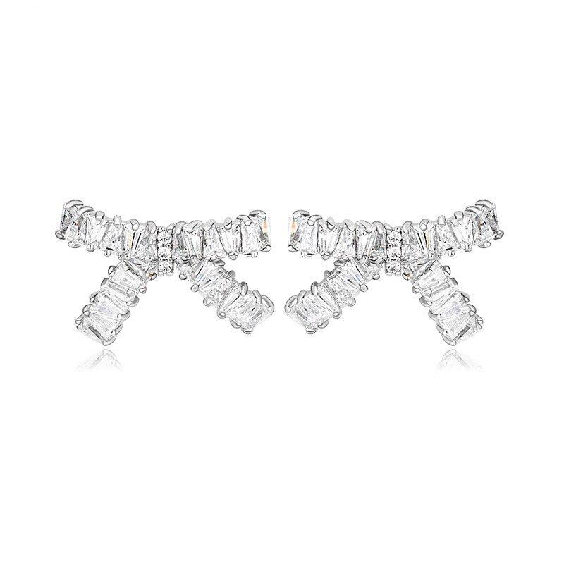 Aliexpress.com : Buy Fashion Jewelry Lovely Bowknot Cubic Zirconia ...