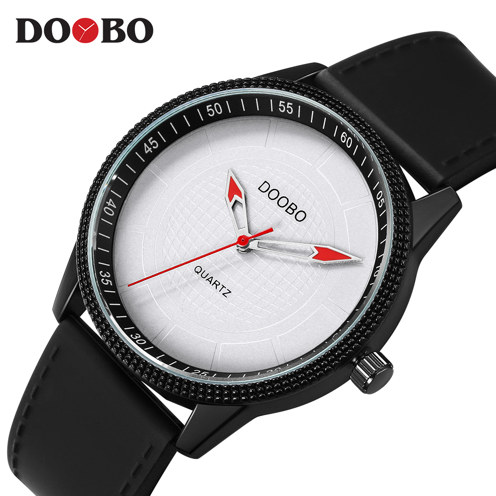 Mens Watches Brand Luxury Ultra Slim Quartz Watch Men 2017 Business Leather Band Relogio Masculino Fashion wristwatches DOOBO forsining fashion brand men simple casual automatic mechanical watches mens leather band creative wristwatches relogio masculino