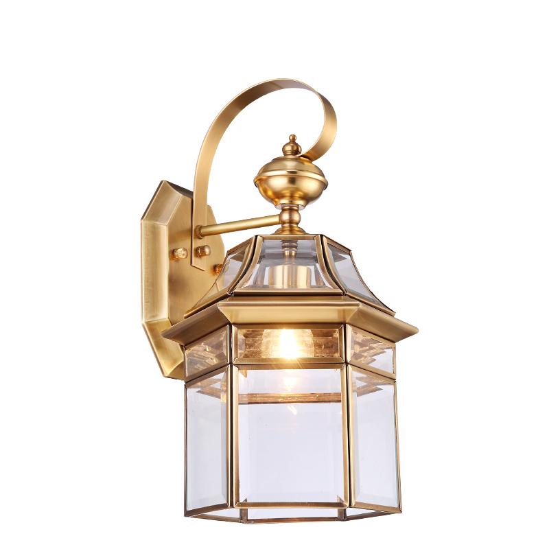 Continental Wall Lamp Copper Waterproof