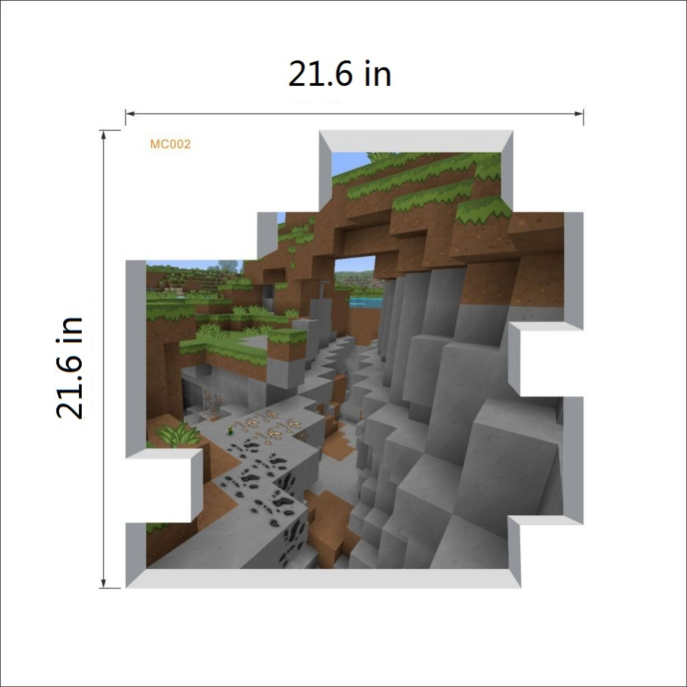 2017 nouveau Dessin Animé Minecraft 3D Wall Sticker Pour Chambre D ...