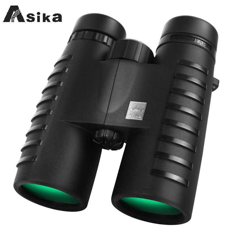 Long Range HD 10x42 Binoculars Asika Professional Hunting Telescope Optical Night Vision Bak4 Prism Scope Binoculars