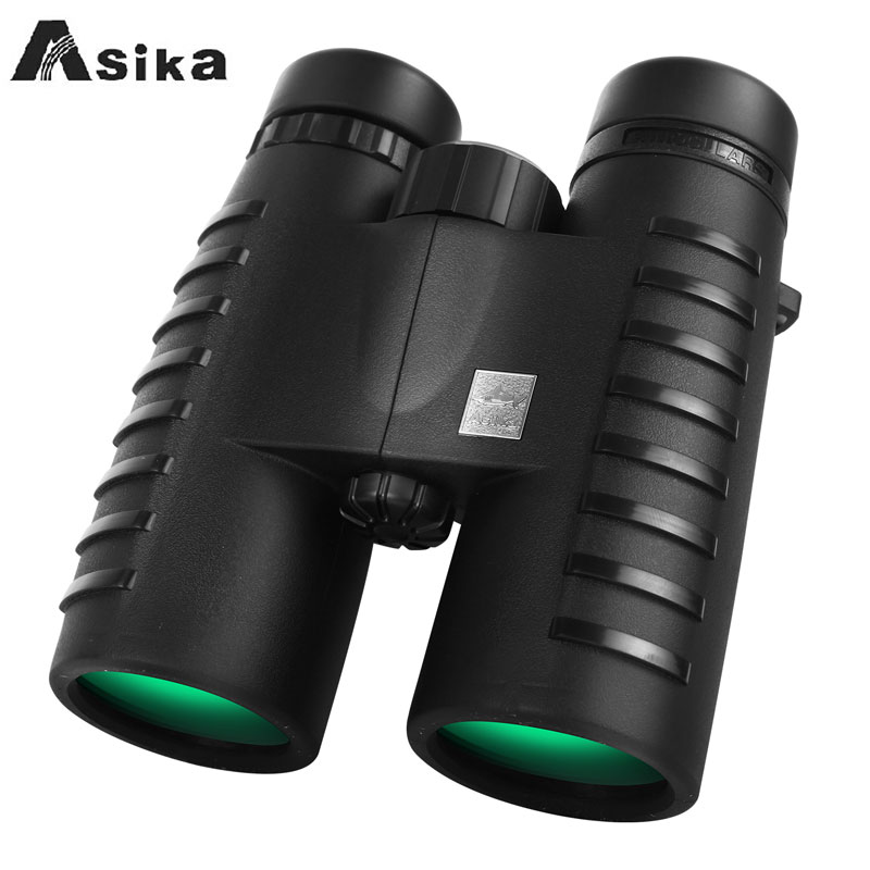 Long Range HD 10x42 Binoculars Asika Professional Hunting Telescope Optical Night Vision Bak4 Prism Scope Binoculars For Outdoor-in Monocular/Binoculars from Sports & Entertainment    1