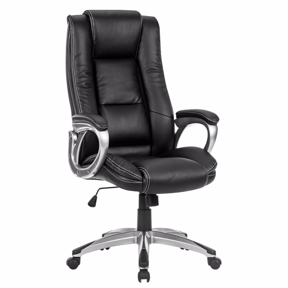 Awe Inspiring Us 120 99 Langria Modern Ergonomic High Back Leather Executive Office Chair With Double Padded Backrest And Seat Thick Padded Armrests In Office Inzonedesignstudio Interior Chair Design Inzonedesignstudiocom