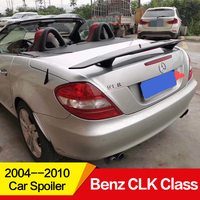 For Mercedes Benz CLK Class spoiler high quality ABS plastic carbon black water transfer color DIY paint Car Rear Wing