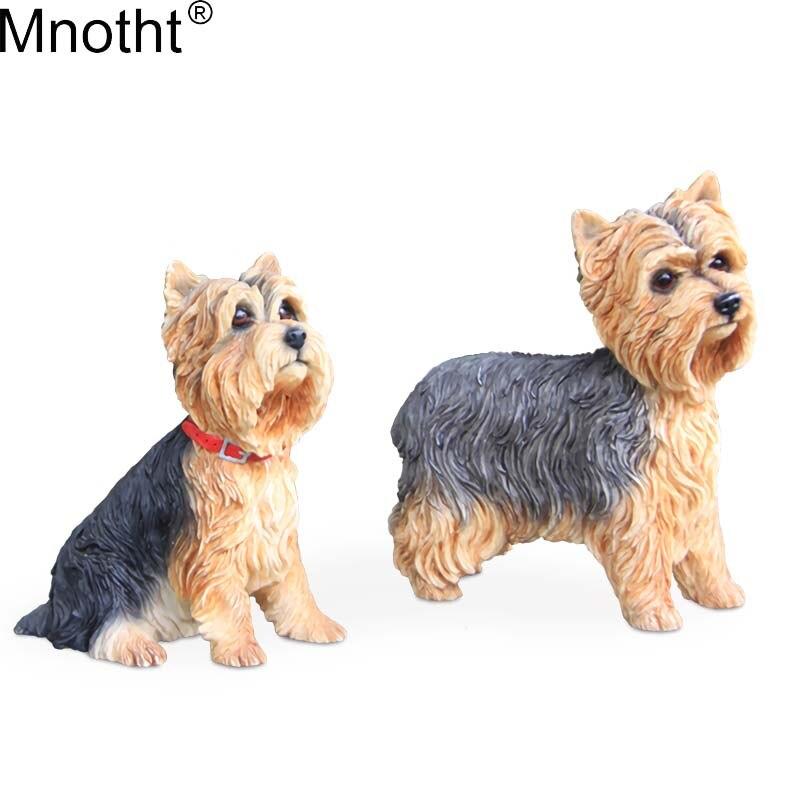 Mnotht 1/6 Cachorro Yorkshire Terrier Cão Simulação Modelo Cena Acessório Mini Brinquedo Anmial para Figura de Ação Coleção de Presente m3n