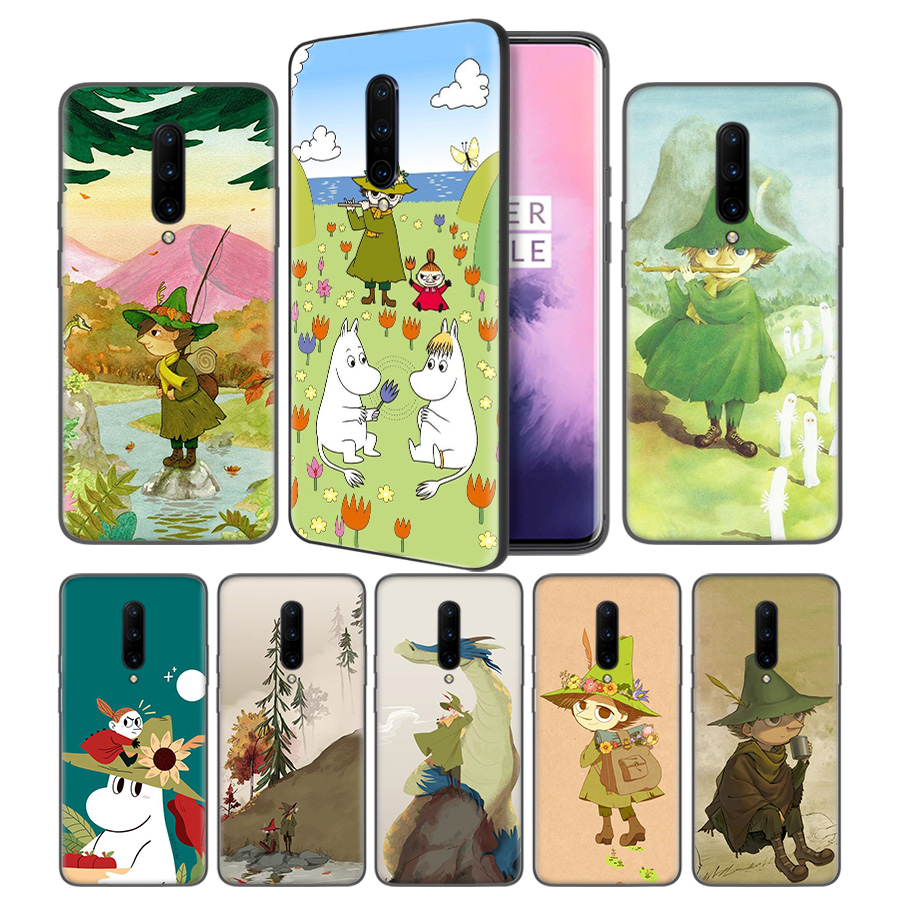 snufkin and little my Soft Black Silicone Case Cover for font b OnePlus b font 6