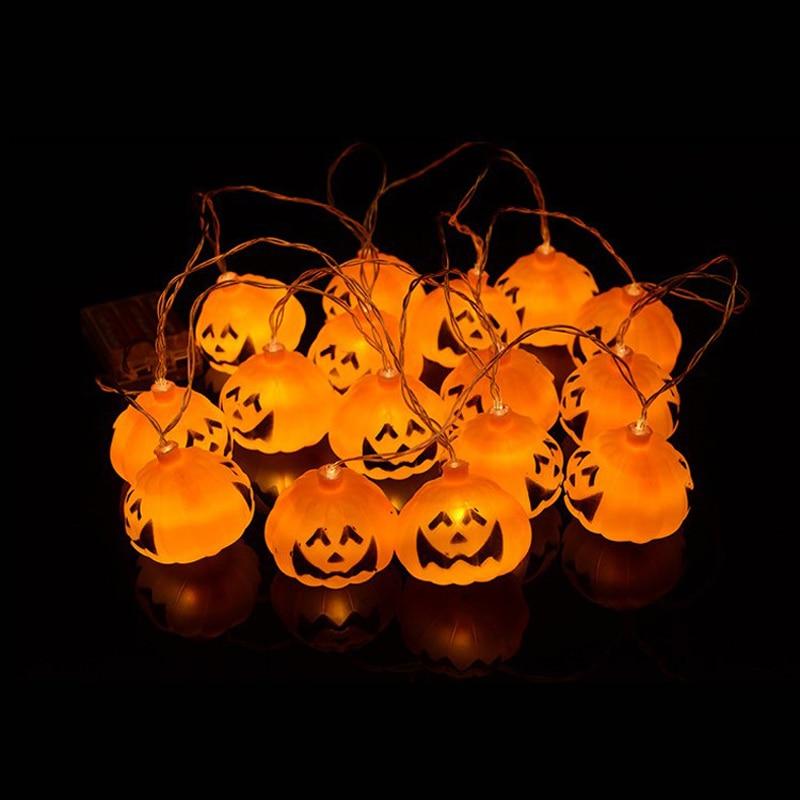 luces de la secuencia de calabaza de halloween d plstico led number pies naranja luces