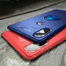 Luxury Soft Shockproof Case For Xiaomi Redmi 6A Bracket Ring Cover For Xiaomi Mi 8 Lite Redmi Note 5 6 Pro A1 A2 Fundas Coques все цены