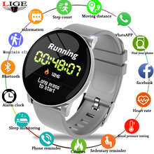 LIGE Smart Watch Men Health Monitor Heart Rate / Blood Pressure Waterproof Pedometer Mens and Womens Watches Sports Bracelet