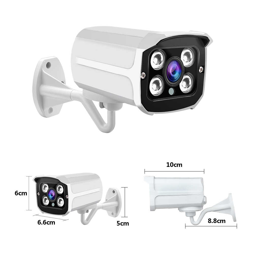 ZGWANG 1080P AHD Camera IP66 Waterdicht Nachtzicht Outdoor IR LED Netwerk CCTV Camera Mini Bullet Analoge Camera met beugel