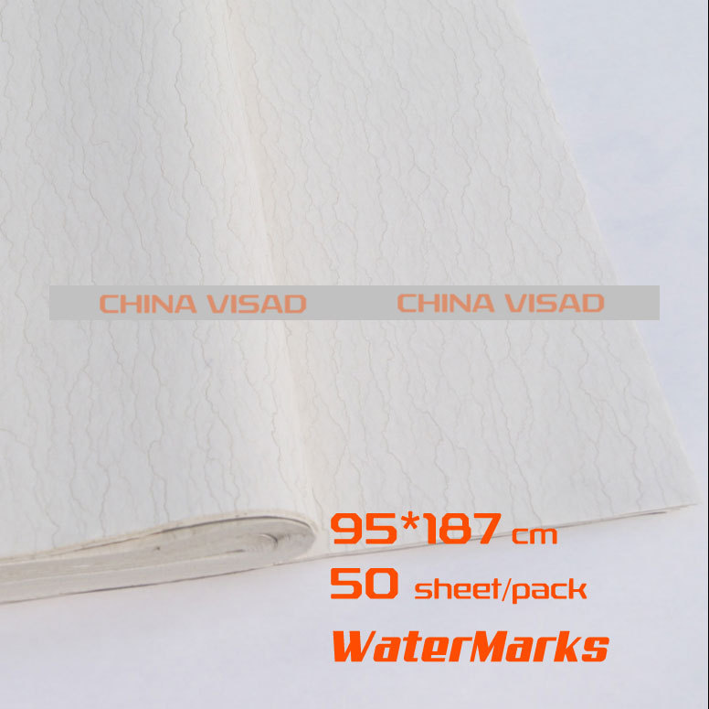 Chinese painting paper, Chinese Rice paper & watermarks yunlong xuan paper,50 sheets/pack 99*187cm,free shipping free shipping 100 pieces lot 7 colors hand made chinese rice paper for painting and decoupage 64 135cm xuan paper
