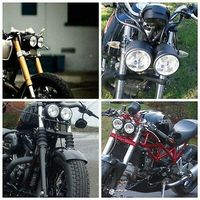 Motorfiets Black Dual Koplamp Voor Dual Sport Dirt Bikes Naked Motorfiets