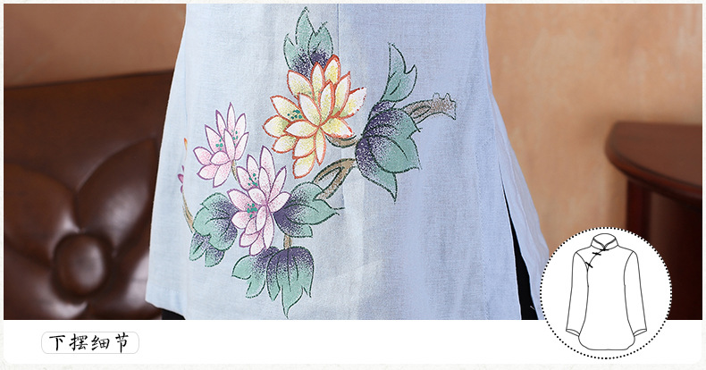 National Chinese Tops Women Cotton Linen Blouse Summer T Shirt Size S to 3XL in Tops from Novelty Special Use