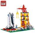 ENLIGHTEN 584pcs/set Building Blocks 3D DIY Space Shuttle Educational Toys Children Gift mini Compatible With Legeod