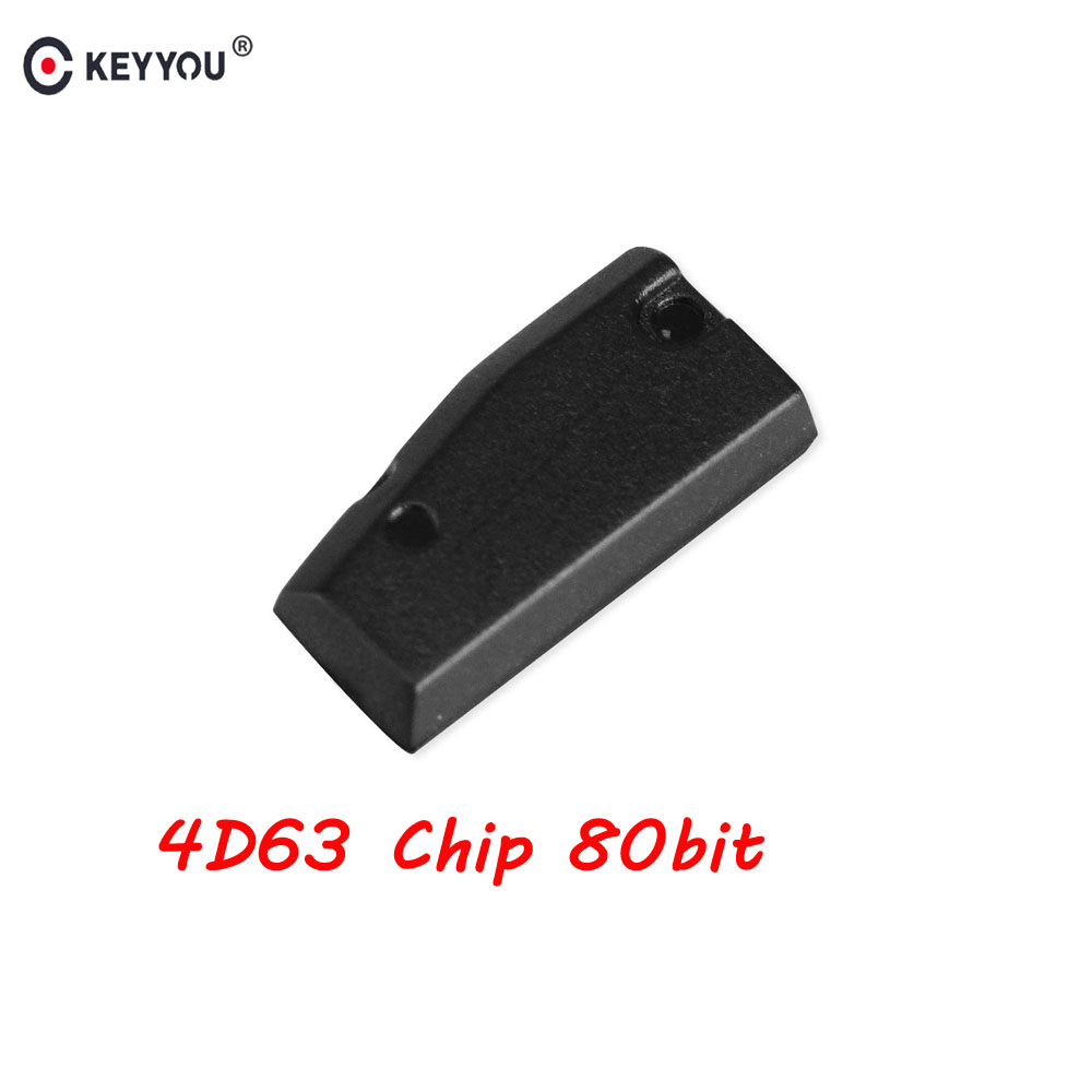 KEYYOU Auto Carbon Transponder Chip For Ford Mazda 4D63 80Bit 4D ID63 Chip