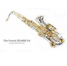 Selmer Saxophone Tenor Silvering Bb Saxophone Mouthpiece Woodwind Musical Instrument Reference 54 Electrophoresis Gold Saxfone