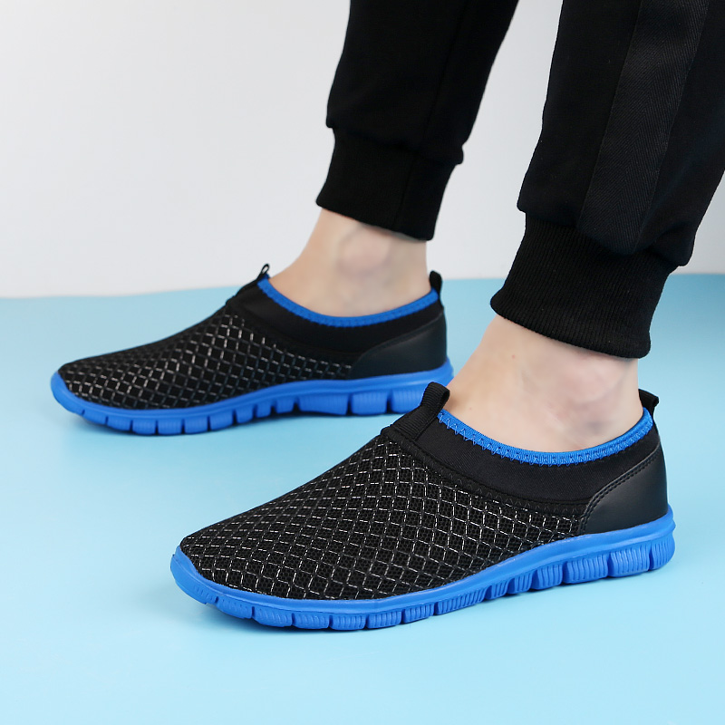 2018 new men's casual shoes platform light loafers summer breathable - Men's Shoes - Photo 2